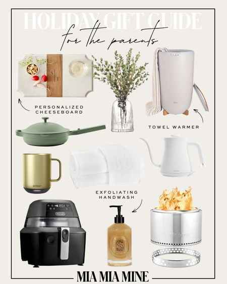 Sharing the best holiday gifts for parents and in-laws, including home gifts and more. Air fryer, Diptyque hand wash, monogram towels, cheeseboard and towel warmer   #LTKhome #LTKfamily #LTKGiftGuide