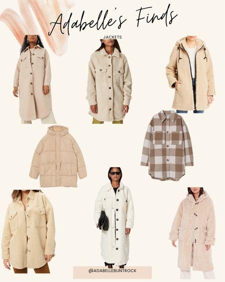 Sherpa shearling jacket coat shacket teddy coat   #LTKstyletip #LTKunder100 #LTKunder50