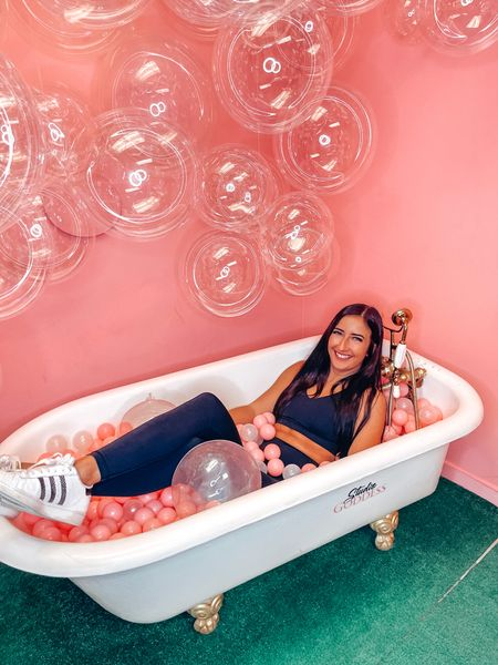 Don't mind me, just sitting in the tub backwards 💀  #LTKfit #LTKstyletip #LTKunder50