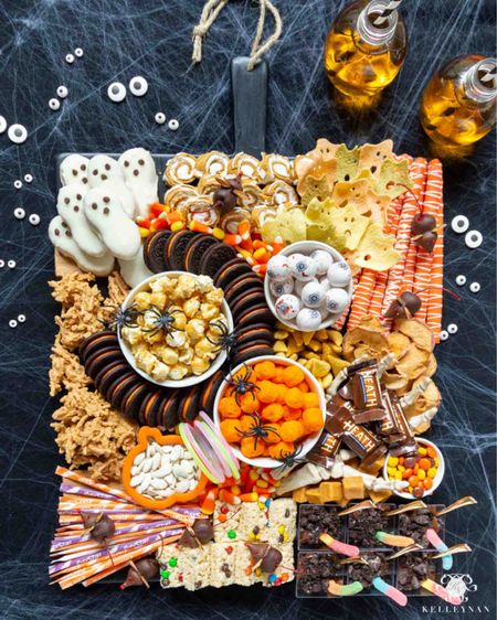 Make a Halloween party special with this ultimate Halloween charcuterie board. Cheese board entertaining idea Halloween fun spooky board dessert board fall fun party idea party food  #LTKSeasonal #LTKHoliday #LTKhome