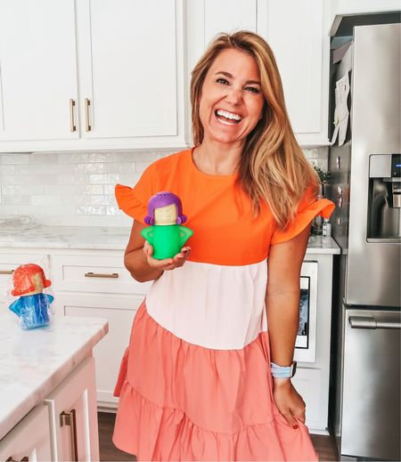 All about this @amazon find…the only Angry Mama I like 😂 This dress is another Amazon favorite too! Fits TTS! Ordered a small.  #amazon #amazonfashion #kitchenfinds #kitchen #ruffledress #kitchentool #coral   #LTKhome #LTKcurves #LTKunder50
