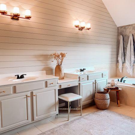 Shiplap bathroom is finished! http://liketk.it/2Xlop #liketkit @liketoknow.it #LTKhome #StayHomeWithLTK
