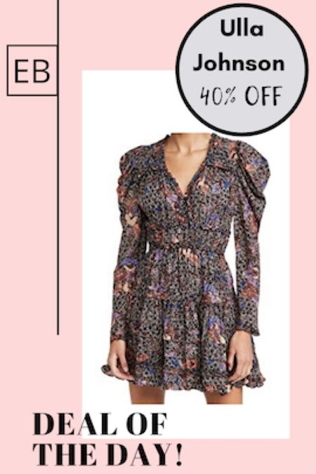 Ulla Johnson dress up to 40% off.  Perfect wedding guest dress or date night dress.  Size down if between sizes. http://liketk.it/3ffK0 #liketkit @liketoknow.it #LTKsalealert #LTKwedding #LTKstyletip Screenshot this pic to get shoppable product details with the LIKEtoKNOW.it shopping app
