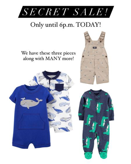 MAJOR SECRET SALE! Items as low as just $3! Sale ends at 6p.m. TODAY, so don't miss out! Baby, toddler, and kids clothing! http://liketk.it/3fExm #liketkit @liketoknow.it #LTKbaby #LTKkids #LTKsalealert