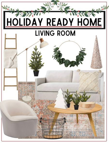 Living room refresh   Home furnishings and holiday decor linked below!        Living room , living room decor , home decor , holiday decor , Christmas decor , area rug , coffee table , target style , target home decor , target Christmas , walmart finds , walmart home decor , Christmas trees  #LTKHoliday #LTKSeasonal #LTKhome