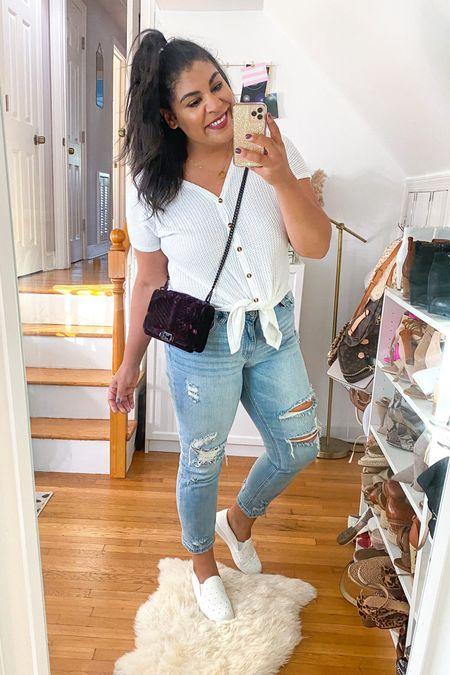 "Casual outfit ✌🏽 Shirt: TTS, wearing an XL. Jeans: Run large size down, a 13. Shoes: use code ""carlene15"" for 15% off #liketkit http://liketk.it/2YmOX @liketoknow.it #amazon #amazonfavorites #amazonfinds #amazonfashion   #LTKunder50 #LTKcurves #LTKsalealert"