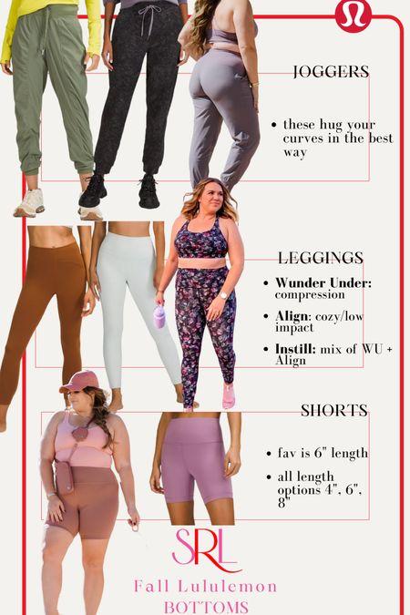 Fall faves from Lululemon- part 2 🍁 joggers - size 12 leggings & shorts - size: 10  #LTKfit #LTKGiftGuide #LTKcurves