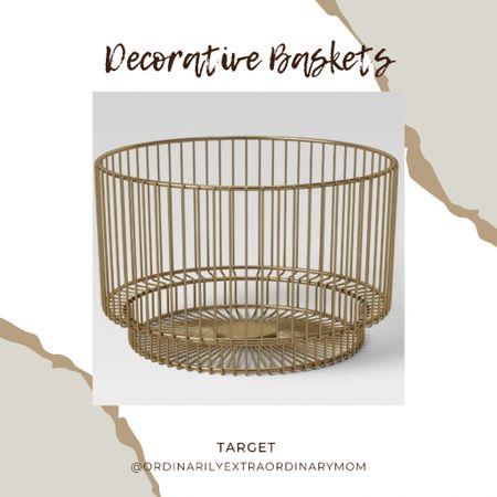 Home decor:  Decorative basket   #LTKhome #LTKunder100