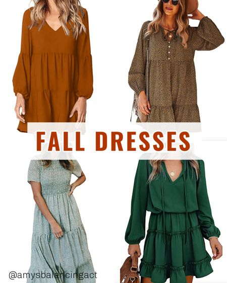 Obsessed with these perfect fall dresses all under $40!   #LTKunder50 #LTKstyletip #LTKSeasonal