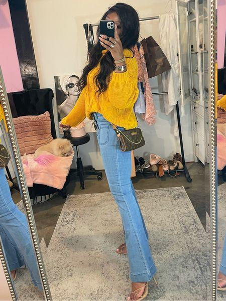 These pants!!! Tts/wearing 6 Amazon find, fall fashion, knit sweater, chunky knit sweater, fall family photo outfit idea  #LTKstyletip #LTKSeasonal