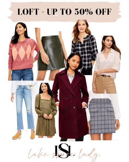 Loft sale - sweaters, petite skirts, petite jeans, coats, etc. Get up to 50% off with code OBSESSED  #LTKsalealert #LTKunder50 #LTKunder100