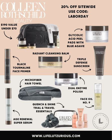 Colleen Rothschild Sale - 20% off site wide with code LABORDAY   #LTKbeauty #LTKsalealert