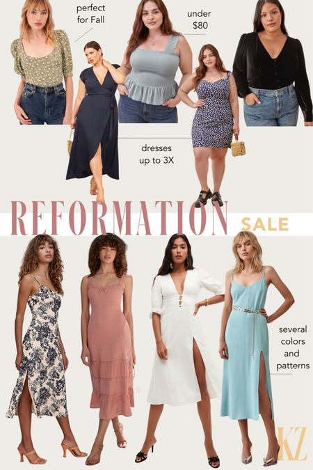 Reformation Sale - Fall Dresses, Fall Outfits, Fall Tops on Sale   #LTKsalealert #LTKSeasonal #LTKcurves