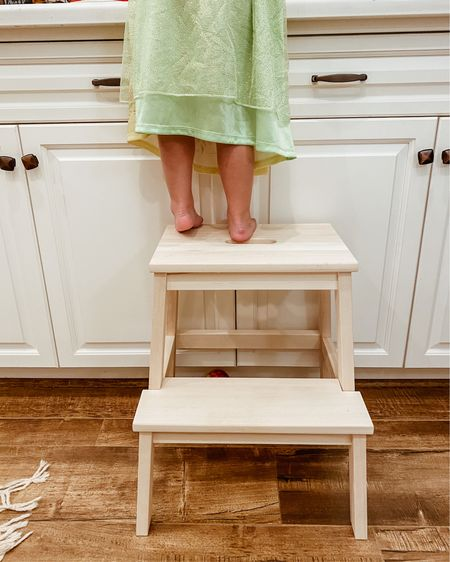 Ellery's new bathroom sink and kitchen helper step stool   @liketoknow.it  http://liketk.it/39x00 #liketkit