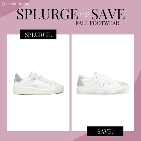 Great sneakers to wear all year round. Check out this awesome dupe I found! | #whitesneakers #tennisshoes #sneakers #fallsneakers #falloutfits #workoutfits #JaimieTucker  #LTKshoecrush