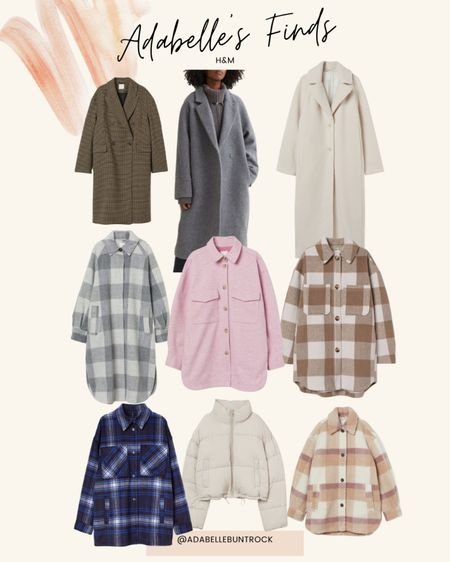 H&m plaid Sherpa jacket coat puffer jacket   #LTKunder100 #LTKstyletip #LTKSeasonal