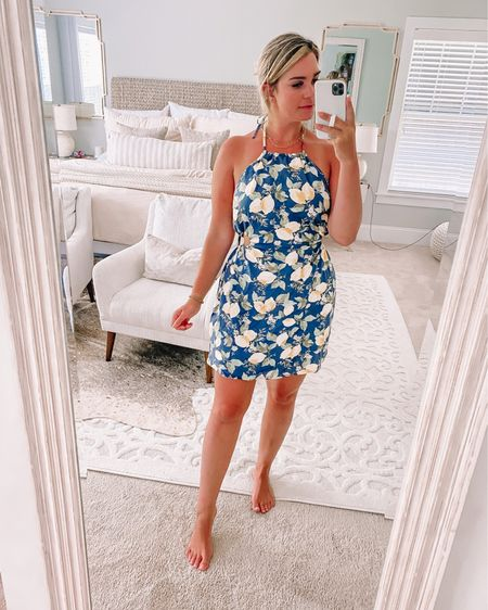How adorable is this lemon halter dress!? @liketoknow.it http://liketk.it/3huT9 #liketkit #LTKunder100 #LTKstyletip #LTKunder50
