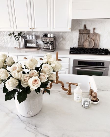 White kitchen, amazon finds, home decor, kitchen decor, Stylinaylinhome,   #LTKunder100 #LTKhome #LTKunder50