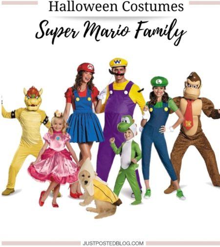 Family Super Mario Halloween Costumes   Family Halloween  Costume Super Mario   #LTKHoliday #LTKSeasonal #LTKfamily