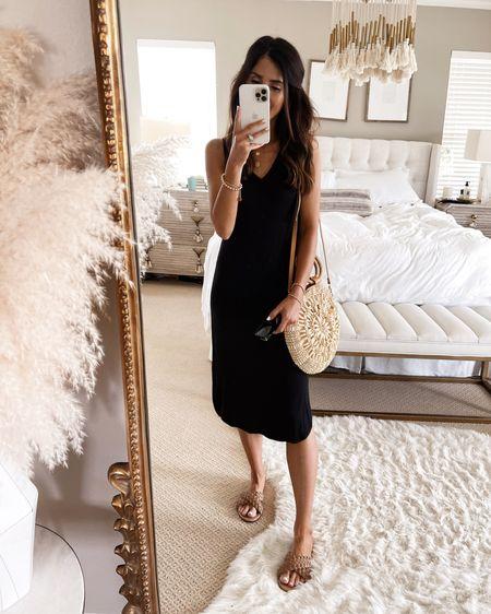 Amazon fashion, wearing size small dress, I'm just shy of 5'7 for reference, amazon dress, summer dress, beach dress, casual date night look,  handbag, amazon sandals, sunglasses, StylinbyAylin @liketoknow.it #liketkit http://liketk.it/3i1Gf               #LTKstyletip #LTKunder50 #LTKunder100