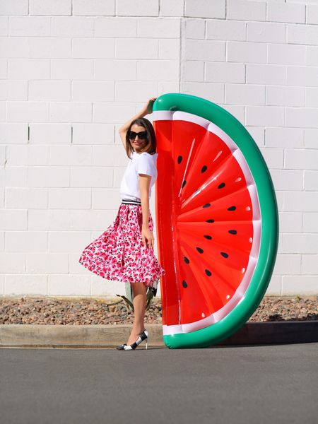 Watermelon 🍉 sugar high! Tis the season...sharing the best pool floats of 2021 on KellyGolightly.com  Link is in my bio!  Check it out & LMK your fave. I have a crush on the roller skate.  But the Malibu Barbie private jet is cute too. 💕💕   http://liketk.it/3iVIJ #liketkit @liketoknow.it #LTKunder50 #LTKunder100 #LTKswim #poolfloats