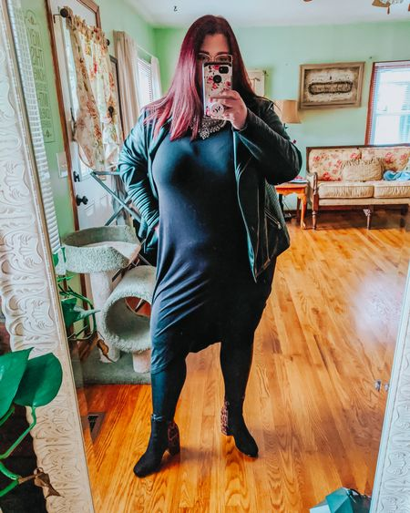 """Need to practice my mirror taking selfie skills. I always end up covering up my face. Not usually one of my go-to styles but once I start school, these #allblacklooks will be my normal. Before I enrolled, I had this black moto jacket, one all black sweater, one all black top, and maybe 5 pairs of black leggings. Now i should have enough tops, jeans, pants, etc to get me through 3 months of school. This dramatic asymetrical top is from @maurices and I'm completely in love.  . . Follow DivasNeverSettle on the @liketoknow.it app to shop this whole #liketkit look! 1️⃣. Click """"SHOP M Y LOOKS"""" link in my bio's Linktree 🛍️ 2️⃣. Search for """"DivasNeverSettle"""" 🙋 3️⃣. Click """"FOLLOW!""""🙌🏻 . .  http://liketk.it/2KSpu  . .  #LTKsalealert #LTKstyletip #LTKunder100 #LTKcurves #LTKshoecrush #midthirtiesstyle #nailtechintraining #manicuristwannabe #nailstudent #plussizeblogger #plussizefashion #plussizeoutfit #psoutfit #psootd #plussizeoutfitinspo #psoutfitinspo #curvyfashion #scsister #stylecollective #scsisterlove #dreamypresets #pinksapphirepreset #over30style #over30fasion #rewardstyleblogger"""