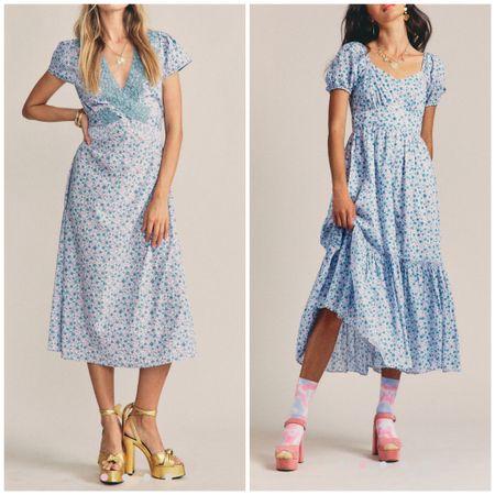 Maxi dress. Floral dress. Wedding guest dress. Loveshackfancy. Blue dress.   #LTKstyletip #LTKsalealert #LTKSeasonal