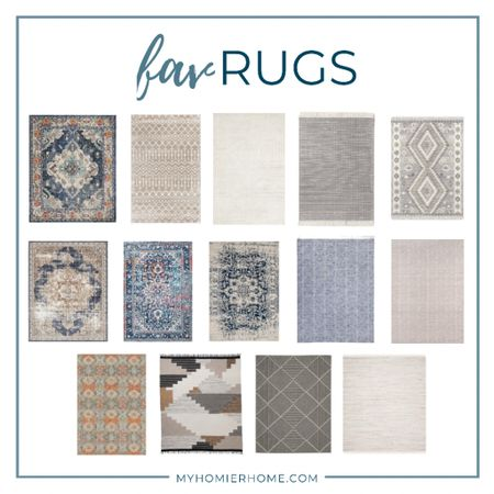 My favorite modern vintage rugs that will up the wow factor of any room  #LTKhome