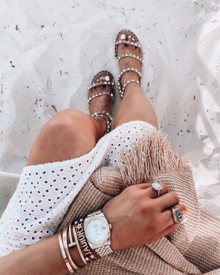 http://liketk.it/3gK5j #liketkit @liketoknow.it sandals, jewelry, watch, gold jewelry, summer 2021, summer fashion, vacation outfits, Emily Ann Gemma