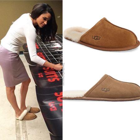Meghan wearing Scuffette II slippers sale on original #shoes #uggs #nordstrom #flats #slippers #home #lounge  #LTKsalealert