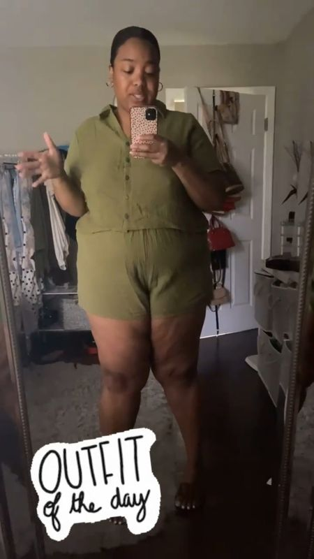 My love for plus size coord sets honestly isn't going away lol. I picked up this amazing plus size shorts and matching top set from Forever21 a few weeks back and I'm glad I did. It's the perfect plus size casual summer outfit. You can dress it up and down and even throw it on over a bathing suit or a bodysuit for a different look. This also comes in a size 4X!!! Love seeing affordable brands expand their sizing.  #LTKunder50 #LTKcurves #LTKstyletip