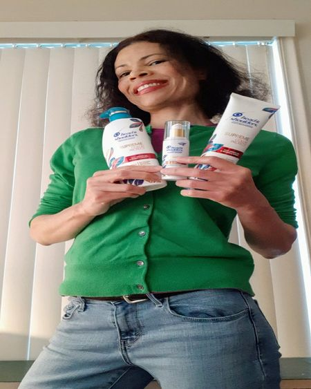 The Head & Shoulders Supreme collection has a luxurious texture and adds intense hydration to my scalp and hair. The color protect line provides effective color protection with a warm and relaxing scent. Enjoying my comfy Levi's jeans with a cute belt and my super soft Lands' End cardigan. #HeadAndShoulders #SupreMEtime #HeadAndShouldersSupreme #ColorProtect #HeadAndShouldersColorProtect #ColorProtection #ProtectColor #LevisJeans #CuteBelt #LandsEndCardigan #LandsEnd #Levis  #LTKbeauty #LTKsalealert #LTKstyletip