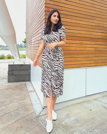 "Zebra print dress. Use code "" Thatsmyside15 "" for an extra 15% off @shein #sheindress #animalprintdress   http://liketk.it/3pbWJ @liketoknow.it #liketkit #LTKSeasonal #LTKshoecrush #LTKsalealert #LTKstyletip #LTKunder50 #LTKunder100 #LTKworkwear #ltkfall #middress"