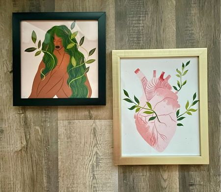 My new Etsy prints — I love them! Perfect for my color scheme and what a vibe  (frames are hobby lobby)   #LTKunder50 #LTKhome