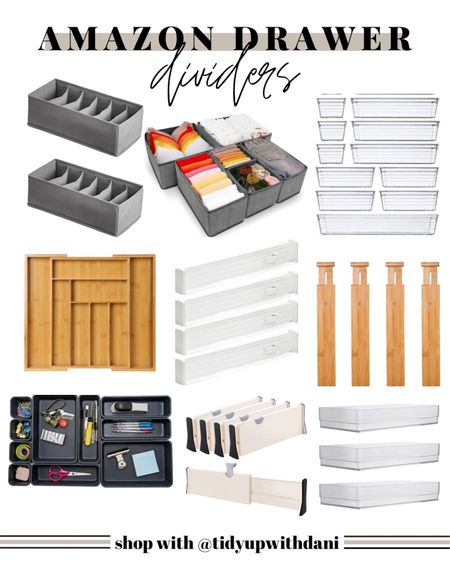 Drawer dividers from Amazon! Tidy up any drawer with easy. Drawer organization. Drawer organizer. Organize your drawers. Clothing drawer organizers. Junk drawer organizers. Desk drawer organizers. Makeup drawer organizers. Vanity drawer organizers. Bathroom drawer organizers. Dresser Drawer dividers. Clothing drawer dividers. Utensil organizers. Kitchen drawer organizers. Kitchen drawer dividers. Amazon organization. Amazon home organization.   #LTKunder50 #LTKfamily #LTKhome
