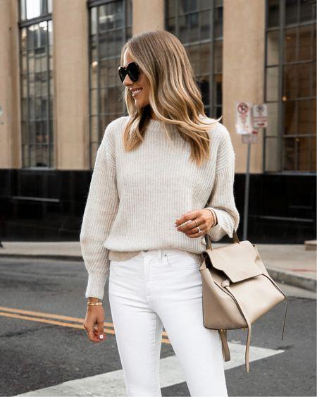 Everlane sweater on sale! Fits tts wearing an XS #sweaters #everlane #falloutfits   #LTKsalealert #LTKunder100 #LTKstyletip