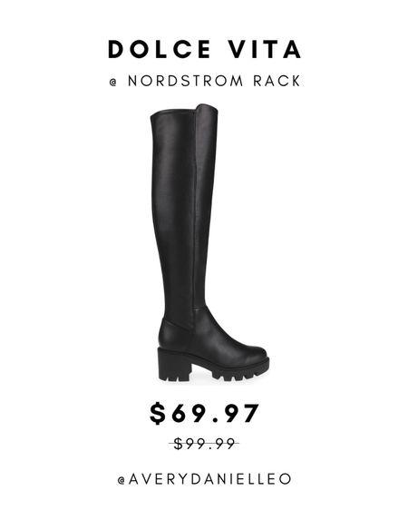 Knee-high black boots, combat, fall style, trending   #LTKshoecrush #LTKsalealert #LTKunder100