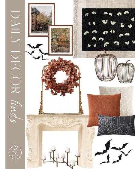 Halloween Decor, fall decor, doormat, throw pillows, art, pumpkins and more    #LTKhome #LTKunder100 #LTKSeasonal