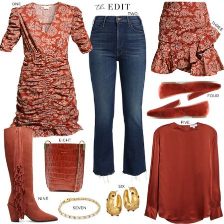 Feeling all the rusts and orangey-reds after last weekend's Texas vs OU game👌🏼  #tssedited #thestylescribe #fall #fallstyle #classic #colortrend   #LTKSeasonal