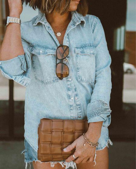 This denim shirt is perfection!  Currently 30% off http://liketk.it/3hhP4 #liketkit @liketoknow.it #LTKsalealert #LTKunder50 #LTKitbag @mango @etsy