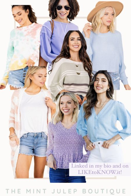Amazing BOGO Free sale happening at The Mint Julep Boutique! Aren't these colors so gorgeous for Spring?! http://liketk.it/3avT3 #liketkit @liketoknow.it #LTKSeasonal #LTKsalealert #LTKstyletip Shop your screenshot of this pic with the LIKEtoKNOW.it shopping app