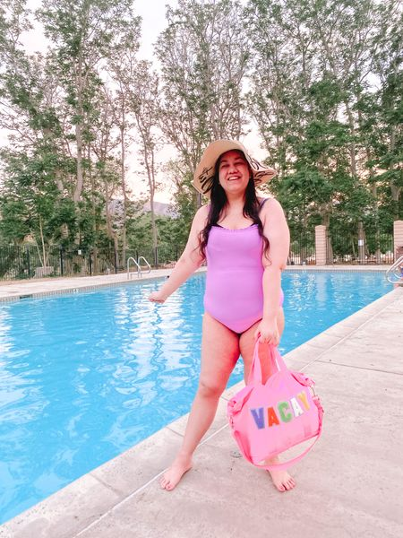 """Hot girl summer vacay! 💖💜 Today on the blog, I'm sharing all the swimsuits I wore this summer. ☀️ I had such a fun summer going to the pool almost everyday and had to share all the swimsuits I was wearing. 👙  I've never felt this confident but this summer I embraced the saying """"hot girl summer"""" and wore all kinds of cute swimsuits. 🏖 I linked all the details in my bio of my faves and more! 👉🏻 What is your favorite style of swimsuit? 🤔   #LTKswim #LTKcurves"""