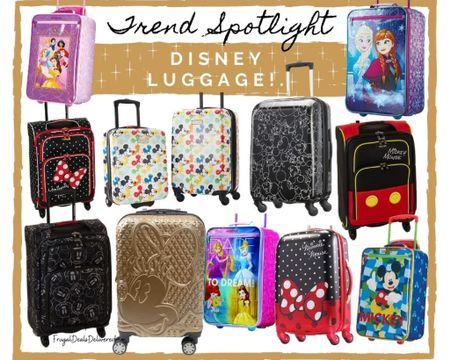 Summer vacation or spring break or just a Disney fanatic? This luggage will be perfect style and fashion for your trip! Dress up your outfit with the perfect Disney luggage while traveling!    Screenshot this pic to get shoppable product details with the LIKEtoKNOW.it shopping app make sure you follow FrugalDealsDelivered for more ideas and collage inspiration!    #LTKfamily #LTKtravel #LTKstyletip @liketoknow.it.family http://liketk.it/3emwO #liketkit @liketoknow.it