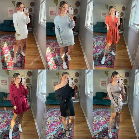 Amazon finds! Fall dresses    #LTKworkwear #LTKunder50 #LTKwedding