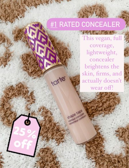 Tarte cosmetics shape tape concealer Vegan beauty Full coverage makeup   #tartecosmetics #tarte #concealer #fullcoverage #skincarefavorites #beautyfavorites #makeup #veganbeauty  #LTKbeauty #LTKunder50 #LTKSale