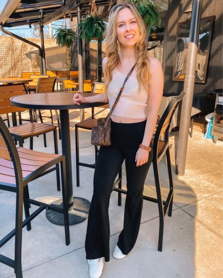 I am so excited about this outfit, and it is on a big time sale today! These pants are under $13, and the top is under $11!  Flare pants and one shoulder tops are going to be huge trends this spring, and you can't beat the value here 😊 Everything is linked in my bio 🤍 http://liketk.it/3axCX #liketkit @liketoknow.it