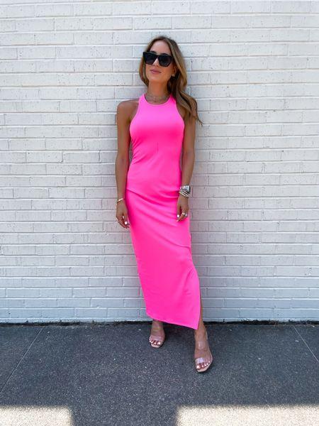 Pink neon maxi dress size xxs   #LTKstyletip #LTKunder50 #LTKunder100