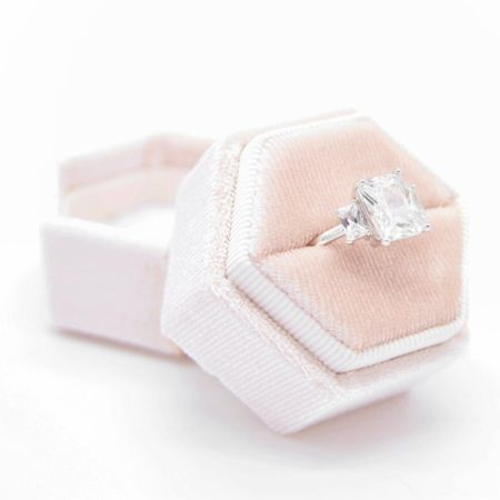 Pink velvet ring box by WithThisRingCo ✨  http://liketk.it/3husF #liketkit @liketoknow.it #LTKwedding