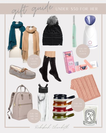 Rounded up some favorites for her all under $50 !! Beauty gifts, cozy gifts, hostess gifts, boss babe gifts, mom gifts, etc. #rebekahelizstyle   #LTKHoliday #LTKGiftGuide #LTKunder50