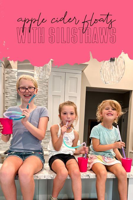 Apple cider floats Silistraws by gosili at target Reusable straws for kids    #LTKfamily #LTKhome #LTKGiftGuide
